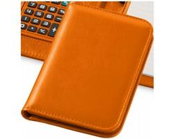 Zápisník s kalkulačkou a pouzdrem CLEAN, formát A6 - oranžová
