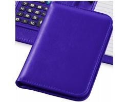 Zápisník s kalkulačkou a pouzdrem CLEAN, formát A6 - purpurová