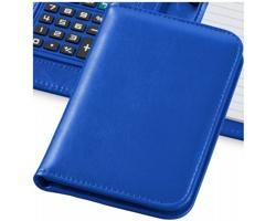 Zápisník s kalkulačkou a pouzdrem CLEAN, formát A6 - královská modrá