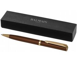 Lakované kuličkové pero Balmain MEDIC v dárkovém balení - hnědá