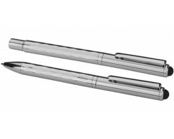 Sada kovového kuličkového pera a rolleru ALARY - stříbrná