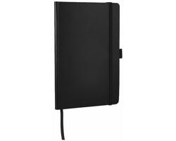 Kancelářský zápisník NEVI s poutkem na propisku - černá
