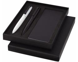Sada kovových psacích potřeb Marksman LONGHAND s mini blokem na poznámky - černá