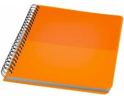 Plastový poznámkový blok MELODIE s kroužkovou vazbou, formát A5 - oranžová