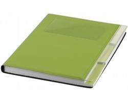 Poznámkový zápisník THON s přihrádkou na vizitky, A5 - jemně zelená