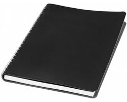 Poznámkový blok OKAPI s přihrádkou na vizitky, formát A5 - černá