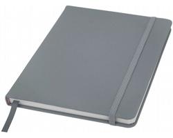 Poznámový blok KITH, A5 s elastickým zavíráním - stříbrná