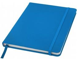 Poznámový blok KITH s elastickým zavíráním, A5 - světle modrá