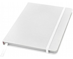 Poznámový blok KITH s elastickým zavíráním, A5 - bílá