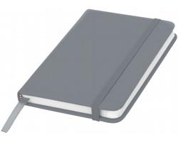 Klasický zápisník PIAN s elastickým popruhem, A6 - stříbrná
