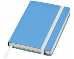 Kapesní zápisník SIEGE s elastickým zavíráním, formát A6 - světle modrá