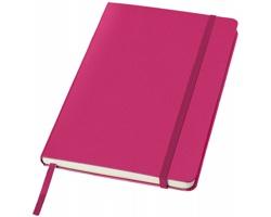 Kancelářský zápisník v pevných deskách SCAG, formát A5 - růžová