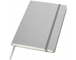 Kancelářský zápisník v pevných deskách SCAG, formát A5 - stříbrná