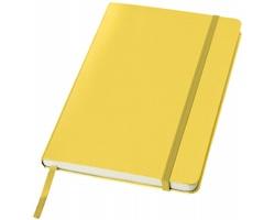 Kancelářský zápisník v pevných deskách SCAG, formát A5 - žlutá