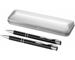 Sada kuličkového pera a mikrotužky GRATO v dárkovém pouzdře - černá / stříbrná