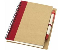 Zápisník s perem SPUE, formát A6 - přírodní / červená