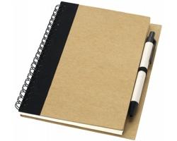 Zápisník s perem SPUE, formát A6 - přírodní / černá