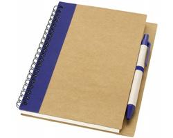 Zápisník s perem SPUE, formát A6 - přírodní / námořní modrá