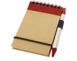 Zápisník s perem ARGUE, formát A7 - přírodní / červená