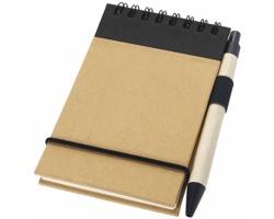 Zápisník s perem ARGUE, formát A7 - přírodní / černá