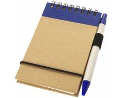 Zápisník s perem ARGUE, formát A7 - přírodní / námořní modrá