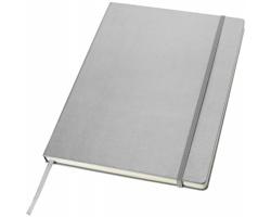 Manažerský zápisník s imitací kůže Journalbooks Classic, formát A4 - stříbrná