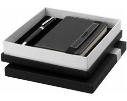 Dárková sada kuličkového pera Balmain SAFES se zápisníkem - černá