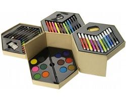 Barevná sada na kreslení FACTORY, 52 kusů - vícebarevné