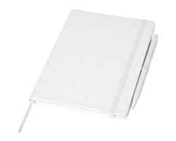 Linkovaný zápisník CARBARYL s kuličkovým perem - bílá