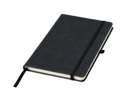 Linkovaný zápisník LUGGERS s deskami z kožených odstřižků A5 - černá