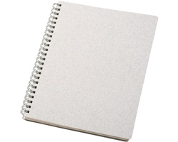 Tečkovaný zápisník CLIME z recyklovaných materiálů, formát A5 - bílá