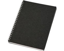 Tečkovaný zápisník ASHVILLE z recyklovaných materiálů, formát A5 - černá
