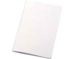Linkovaný poznámkový blok PORTS s šitým hřbetem, 12,5x20 cm - bílá