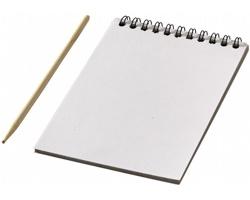 Sada barevných papírů ke skicování TUSK s dřevěným perem, 10 listů - bílá