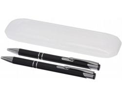 Sada kuličkového pera a mechanické tužky GUMSHOES  v plastovém pouzdře - černá