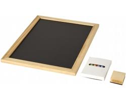 Sada tabule a barevných kříd BISTOURY, 8 komponentů - přírodní