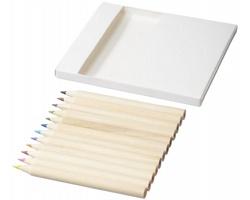 Sada pastelek a omalovánek k vybarvování CORBETT, 22 komponentů - bílá