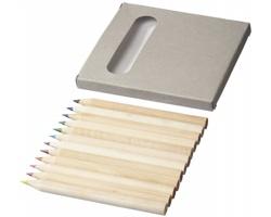 Dřevěné pastelky BOON v papírové krabičce, 12 ks - přírodní
