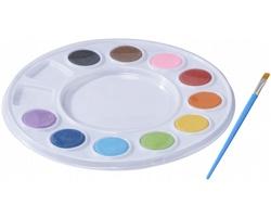 Sada vodových barev ROAST a štětce - bílá