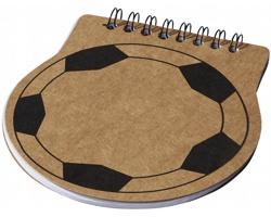Papírový zápisník SHIMS tvaru fotbalového míče - přírodní