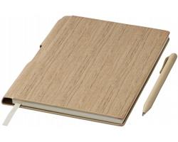 Poznámkový blok CEIL v dřevěném stylu, formát A5 - přírodní