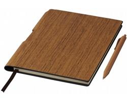 Poznámkový blok CEIL v dřevěném stylu, formát A5 - hnědá