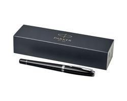 Kovové kuličkové pero Parker URBAN ROLLERBALL - černá / chromovaná