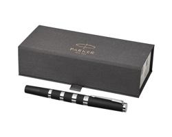 Kovové kuličkové pero Parker CORK - černá / chromovaná