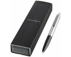 Kovové kuličkové pero BANNS v dárkové kazetě - černá
