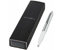 Kovové kuličkové pero BANNS v dárkové kazetě - bílá