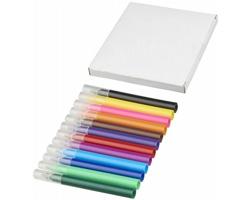 Plastová sada barevných zvýrazňovačů GELD, 12 ks - přírodní