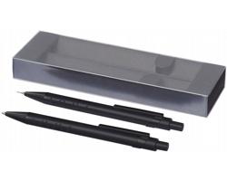 Sada kuličkového pera a mikrotužky EXITED v papírové kazetě - černá