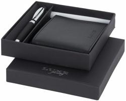 Dárková sada Luxe KOANS s kuličkovým perem a peněženkou - černá