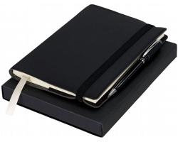 Sada dvou zápisníků a pera Luxe MOUNTAIN v dárkové krabičce - černá